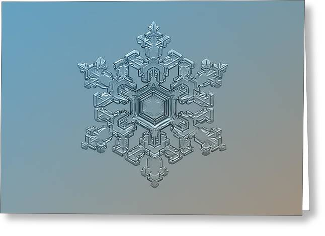 Snowflake Photo - Ornate Pattern Greeting Card