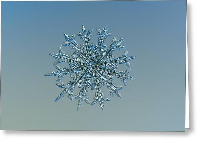 Snowflake Photo - Twelve Months Greeting Card