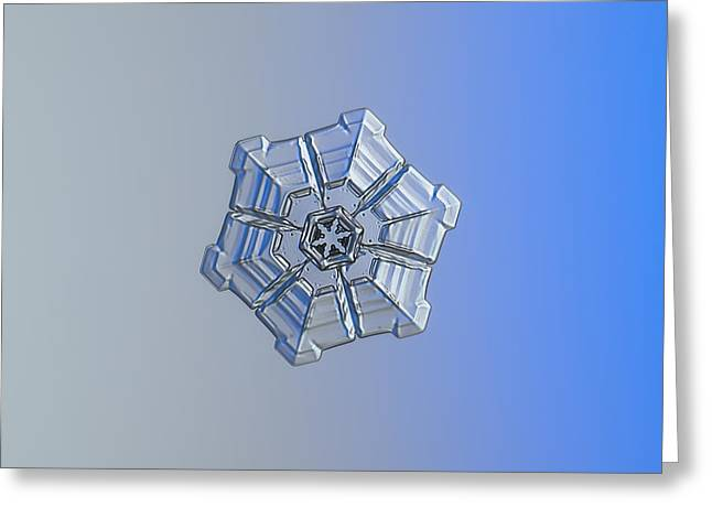 Greeting Card featuring the photograph Snowflake Photo - Winter Fortress by Alexey Kljatov