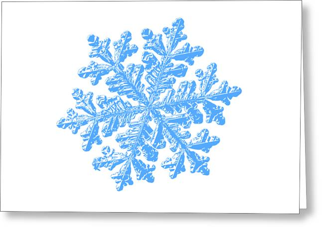Snowflake Vector - Hyperion White Greeting Card