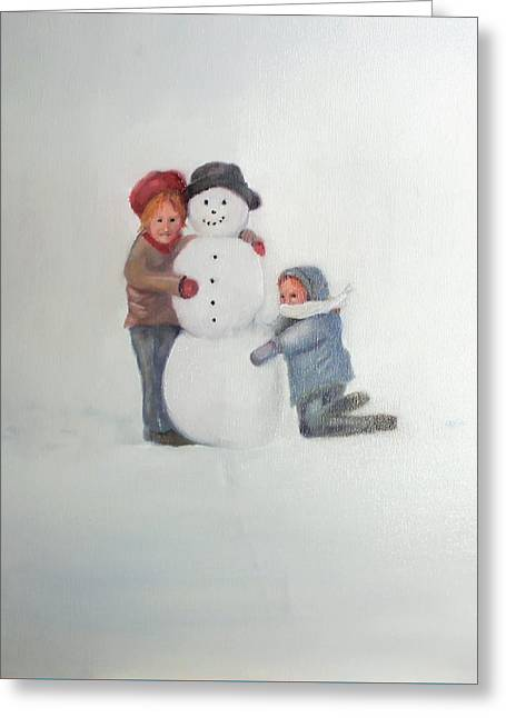 Snowfriends Greeting Card by David Morton