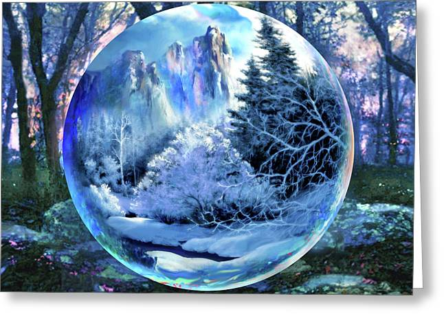 Snowglobular Greeting Card