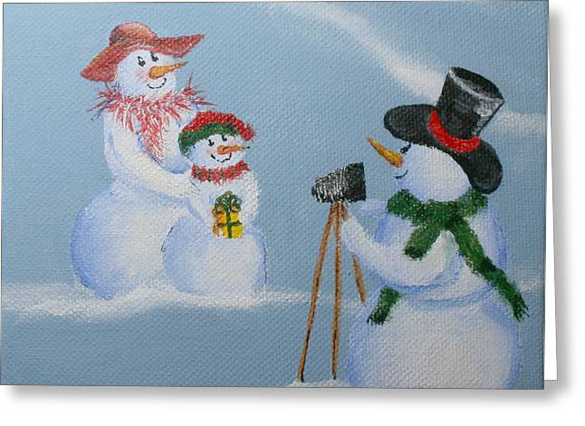 Snowie Photographer Greeting Card by Donna Tucker