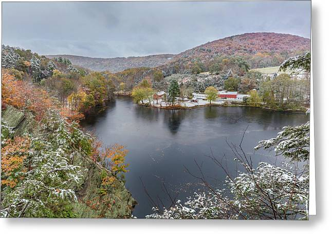 Greeting Card featuring the photograph Snowliage by Bill Wakeley