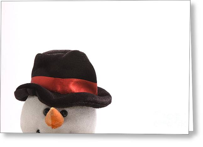 Snowman Greeting Card by Andy Smy