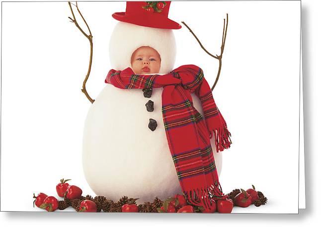 Snowman Greeting Card by Anne Geddes