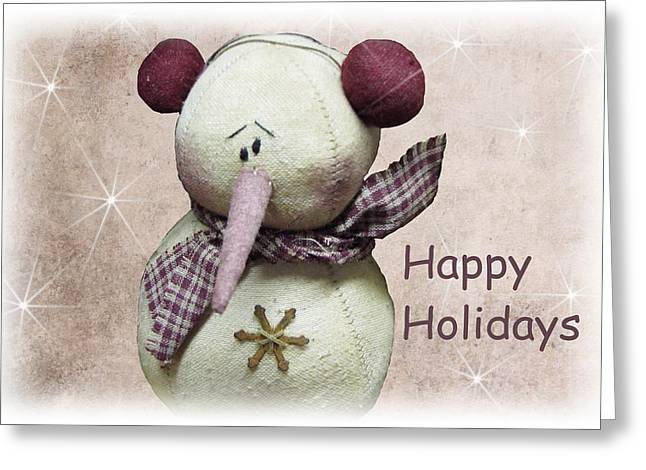 Snowman Greeting Card Greeting Card by David Dehner