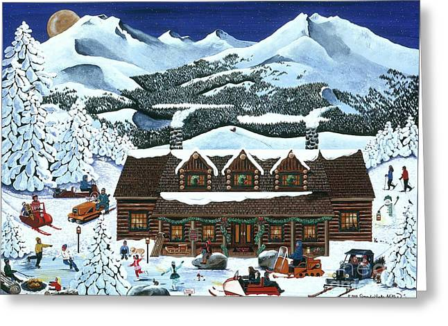 Snowmobile Holiday Greeting Card