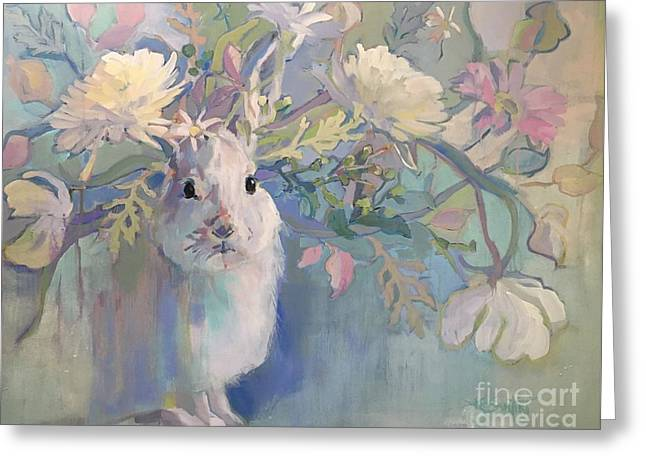Snowshoe Greeting Card by Kimberly Santini