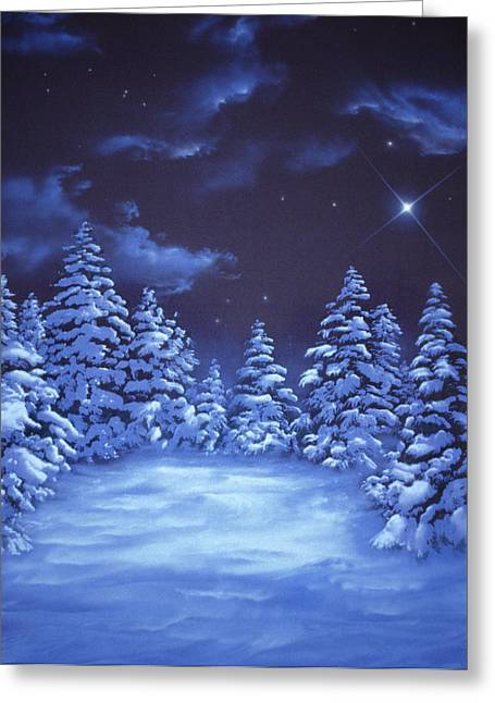 Snowstars Greeting Card by William Rogers