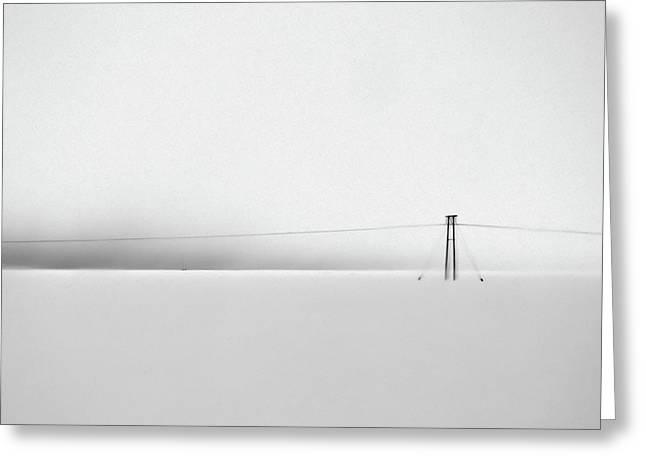 Snowstorm In Iceland Greeting Card by Winnie Chrzanowski