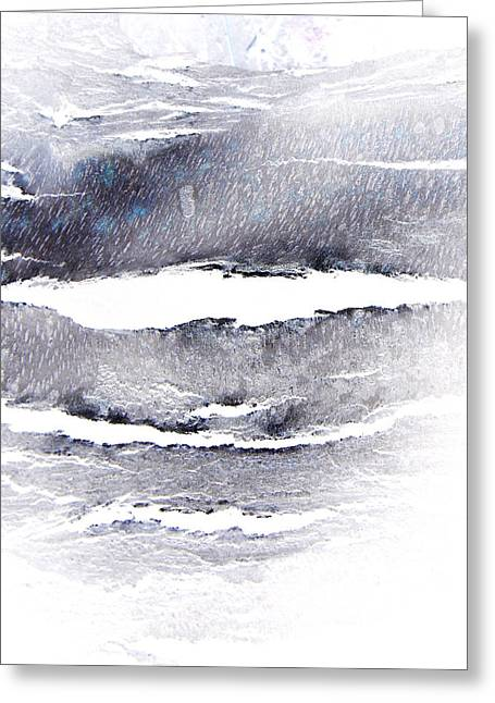 Greeting Card featuring the photograph Snowstorm In The High Country by Lenore Senior