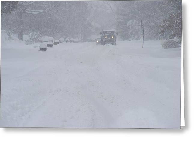 Snowstorm Greeting Card by James and Vickie Rankin