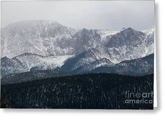 Snowstorm On Pikes Peak Greeting Card