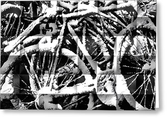 Snowy Bike Greeting Card