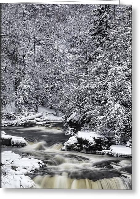 Snowy Blackwater Greeting Card