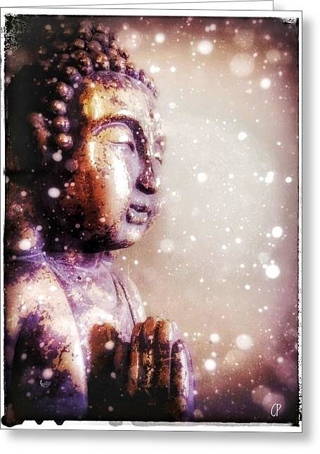 Snowy Buddha Greeting Card