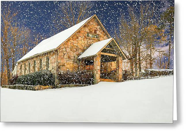 Snowy Cloudland Presbyterian Church  Greeting Card