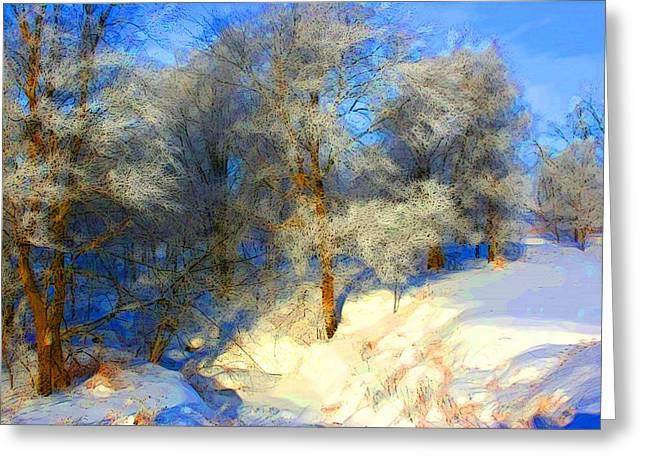 Snowy Creek Etc Greeting Card by Julie Lueders