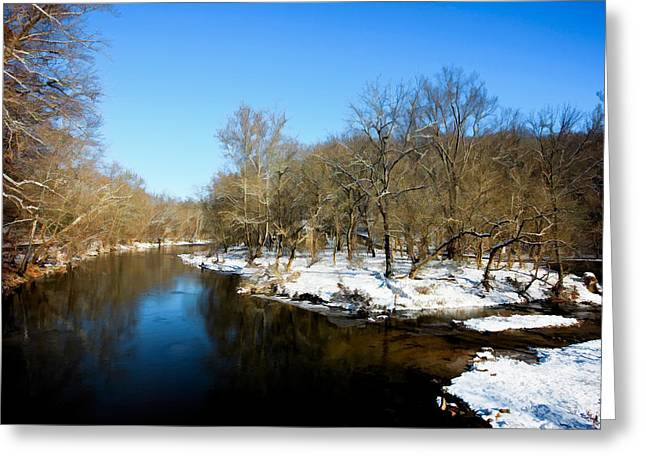 Snowy Creek Morning Greeting Card