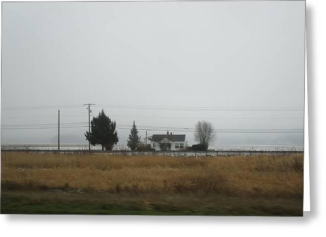 Northwest Landscape Greeting Card by Kazumi Whitemoon