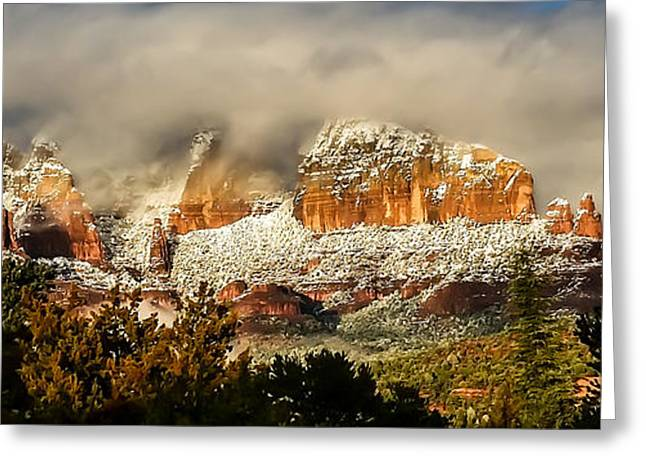 Snowy Day In Sedona Greeting Card