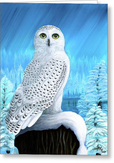 Snowy Delight Greeting Card