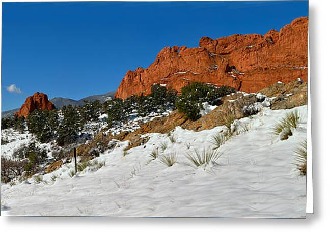 Snowy Fields At Garden Of The Gods Greeting Card