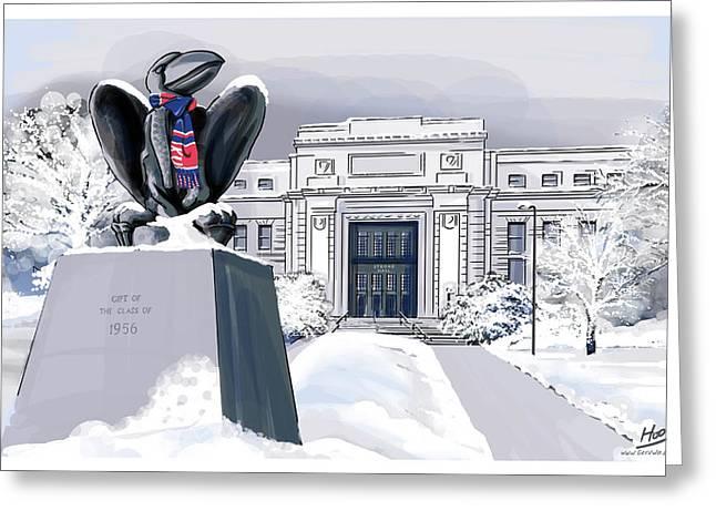 Snowy 'hawk Greeting Card