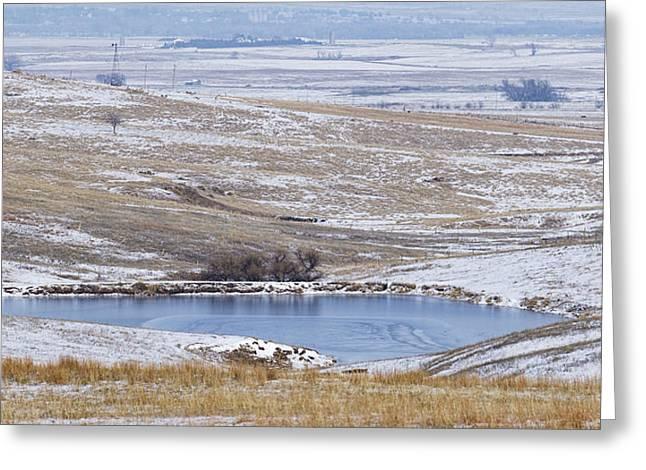 Snowy Hills 1 Greeting Card
