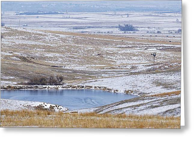 Greeting Card featuring the photograph Snowy Hills 2 by Rob Graham