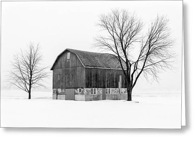 Snowy Little Barn Greeting Card