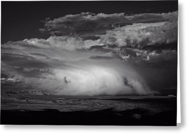 Greeting Card featuring the photograph Snowy Mix Storm Over The Verde Valley by Ron Chilston