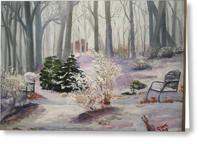 Snowy Morning Greeting Card by Gloria Condon