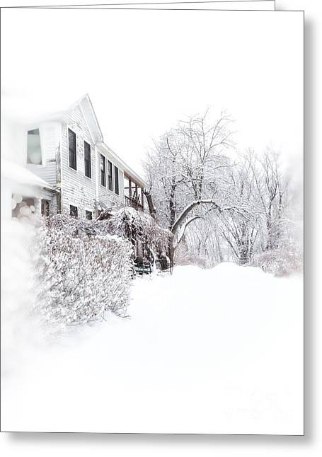 Snowy Morning  Greeting Card by HD Connelly