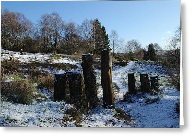 Snowy Path On Hills Greeting Card by Adrian Wale