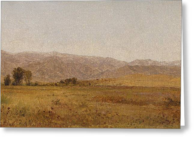 Snowy Range And Foothills From The Valley Of Valmo Greeting Card