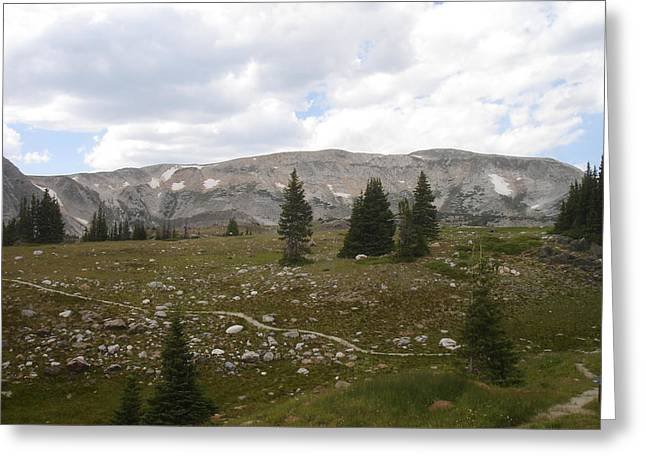 Snowy Range Backdrop Greeting Card by Melissa Harbert