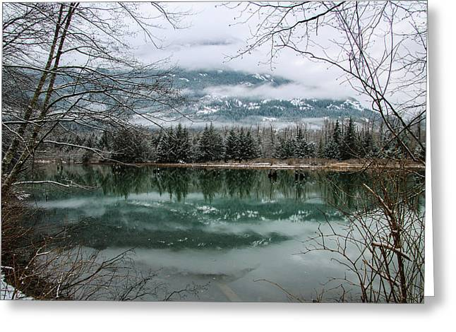 Snowy Reflection Greeting Card