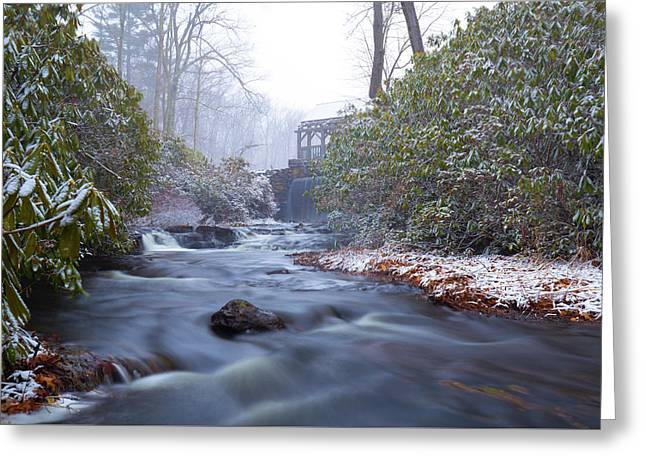 Greeting Card featuring the photograph Snowy River And Waterfall by Brian Hale