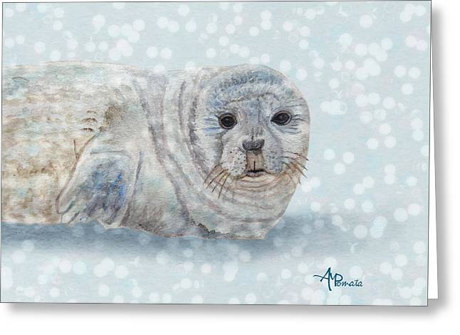 Snowy Seal Greeting Card