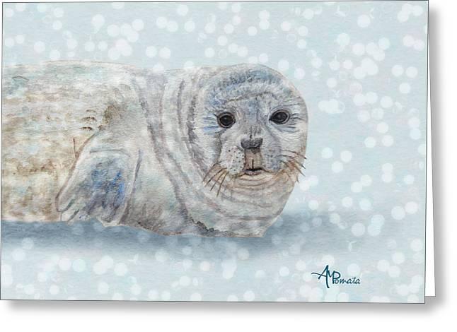 Snowy Seal Greeting Card