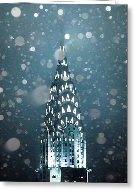 Snowy Spires Greeting Card by Az Jackson