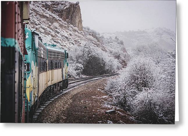 Snowy Verde Canyon Railroad Greeting Card