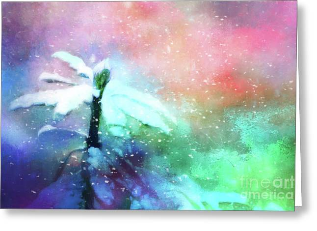 Snowy Winter Abstract Greeting Card