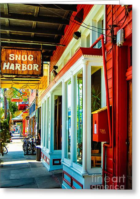 Snug Harbor Jazz Bistro- Nola Greeting Card