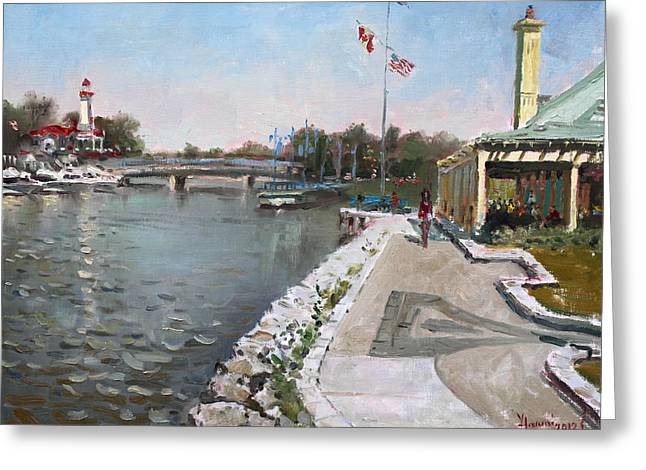 Snug Harbour Restaurant Greeting Card by Ylli Haruni