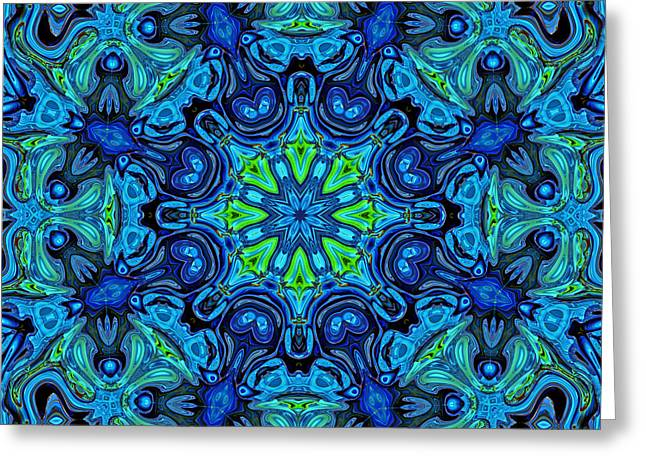 So Blue - 04v2 - Mandala Greeting Card