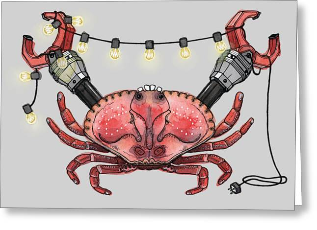 So Crabby Chic Greeting Card by Kelly Jade King