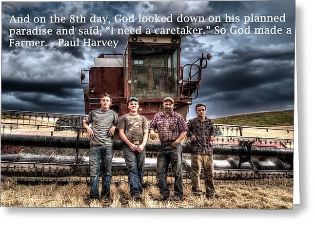 So God Made A Farmer Greeting Card